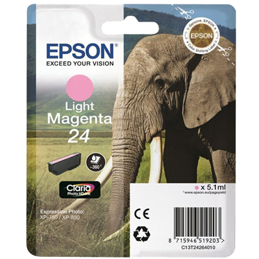 Epson Cartrisde HD ink 24 Light Magenta